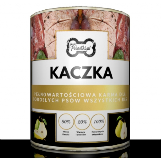 Mokra karma premium Kaczka z gruszką 80% mięsa