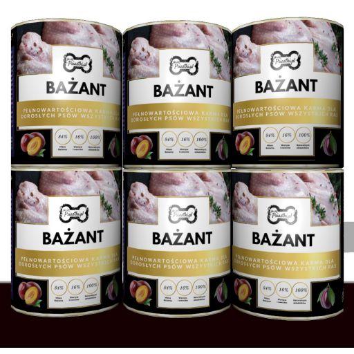 Mokra karma premium Bażant ze śliwką 84% mięsa